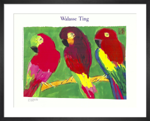 Three Parrots by Walasse Ting