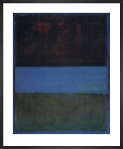 No.61 Rust & Blue: 1953 by Mark Rothko
