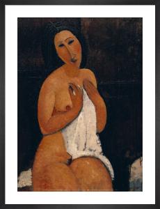 Nu Assis a la Chemise by Amedeo Modigliani
