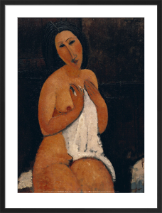 Nu Assis a la Chemise by Amedeo Modigliani