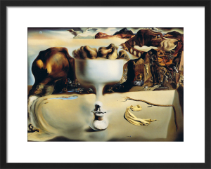 Apparition of Face and Fruit on a Beach by Salvador Dali