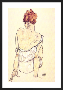 Female Seated by Egon Schiele