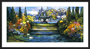 Landscape with Pond and Fountain, c.1905 by Louis Comfort Tiffany