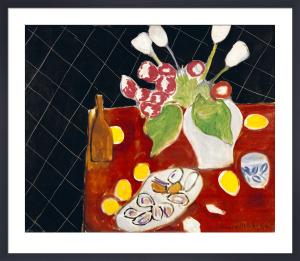 Tulipes et Huitres sur Fond Noir, 1943 by Henri Matisse