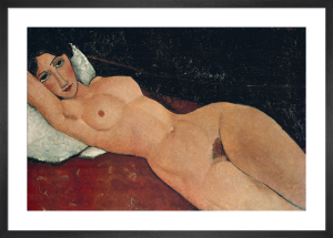 Reclining Nude on White Cushion, 1919 by Amedeo Modigliani