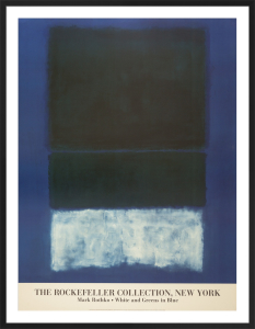 White and Greens in Blue by Mark Rothko