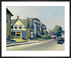 Sun on Prospect Street (Gloucester, Massachusetts), 1934 by Edward Hopper