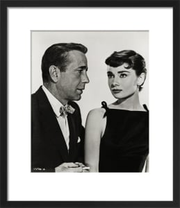 Audrey Hepburn with Humphrey Bogart by Hollywood Photo Archive