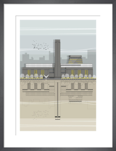 London Tate Modern by Linescapes