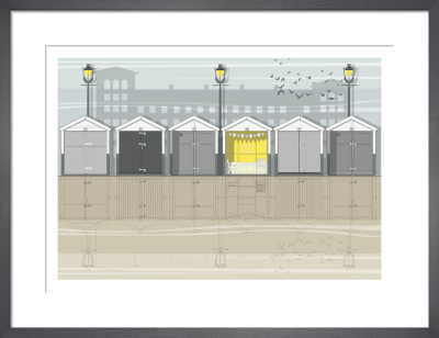 Brighton Beach Huts by Linescapes