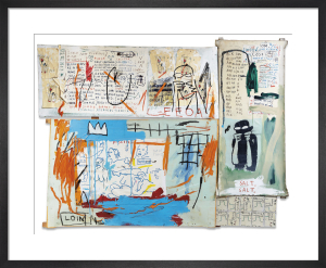 Piscine Versus the Best Hotels, 1982 by Jean-Michel Basquiat