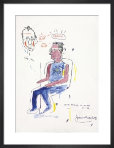 Sketch of Keith Haring, 1983 by Jean-Michel Basquiat