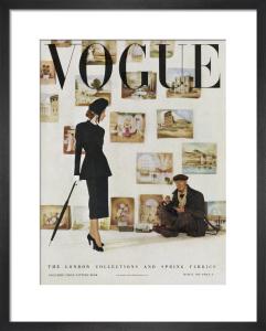Vogue March 1948 by Clifford Coffin