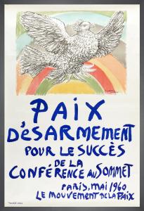 Paix Désarmement pour le Succès de la Conférence au Sommet, 1960 by Pablo Picasso