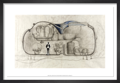 Living Pod Sketch Section by Archigram