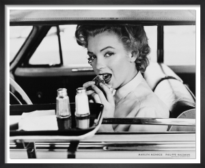 Marilyn at the drive-in, 1952 by Philippe Halsman