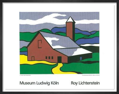 Red Barn II 1969 by Roy Lichtenstein