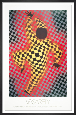 Clown (Red) by Victor Vasarely