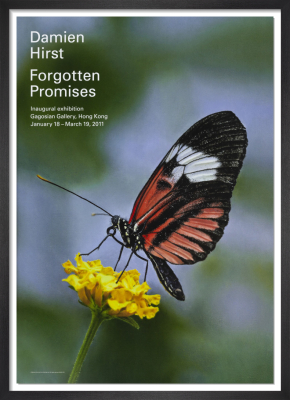 Forgotten Promises (Heliconius melpomene in Aster) (2011) by Damien Hirst