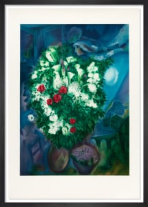 Bouquet with Flying Lovers, 1994 by Marc Chagall