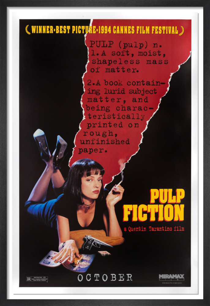 Pulp Fiction 1994 Rare Poster By Anonymous King Mcgaw