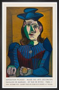 Buste de Femme au Chapeau Blue- Musee des Arts Decoratifs, 1955 by Pablo Picasso