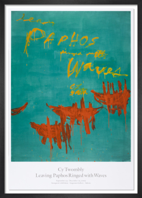 Leaving Paphos Ringed with Waves (2009) by Cy Twombly