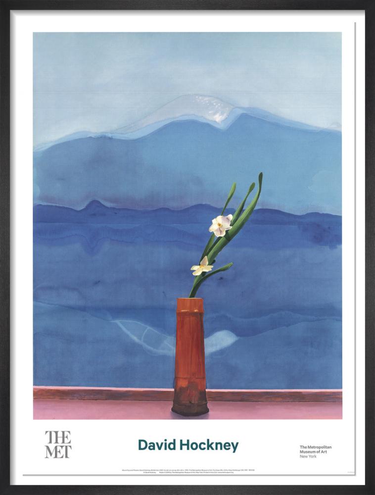 David Hockney Poster Mount Fuji Gallery Wall Art Prints Set Vintage
