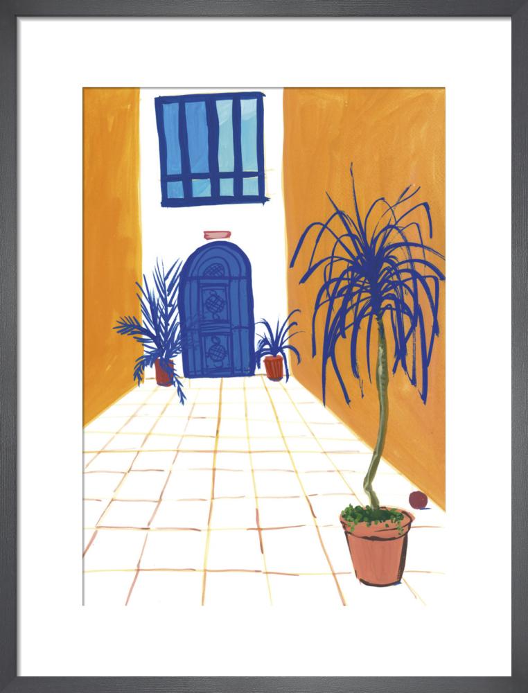 Yellow Patio by Marta Chojnacka