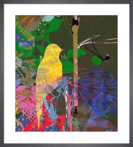 Yellow Shimmer Bird by Tiffany Lynch