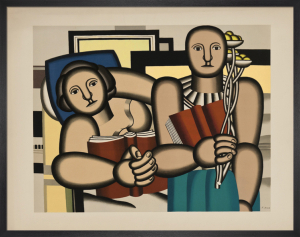 La Lecture, reproduction 1991 by Fernand Leger