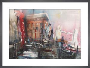 Docklands and Tower Bridge by Bernard Vogel