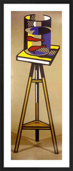 Gold Fish Bowl on Table by Roy Lichtenstein