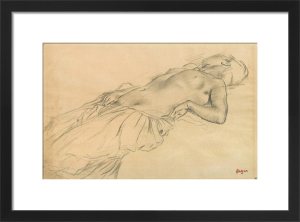 Lying Nude by Edgar Degas