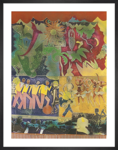 Wrapping It Up at The Lafayette by Romare Bearden