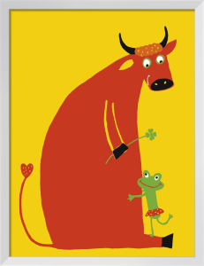 Love between a Cow and a Frog by Andrée Prigent