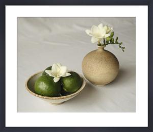 Frésias et citrons verts by Florence Rouquette