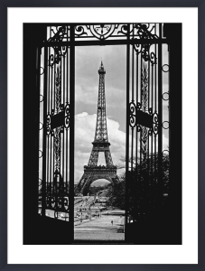 Eiffel Tower Through Gates, 1909 by Anonymous