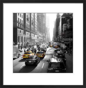 Sunset on Broadway, New York (small) by Dominique Obadia