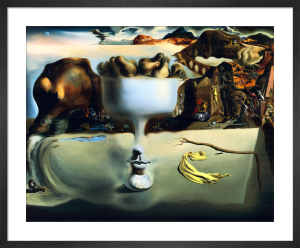 Apparition of a Face and Fruit-Dish by Salvador Dali
