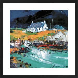 Boats, Portuairk Ardnamurchan by John Lowrie Morrison