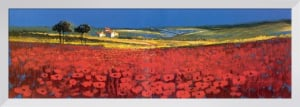 Red Fields, Tuscany by John Horsewell