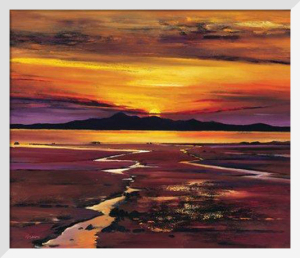 Fading Sun, Arran by Davy Brown