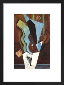 Still Life with Guitar & Newspaper by Juan Gris