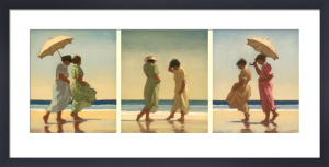 Summer Days Triptych by Jack Vettriano