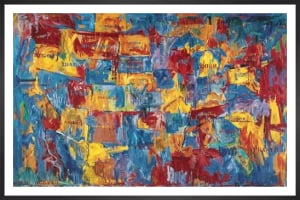 Map by Jasper Johns