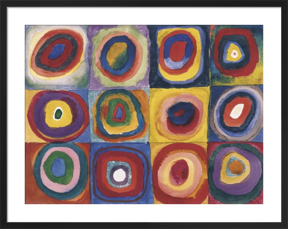 Kandinsky Colour Study Square With Concentric Circles Large Print Men/'s T-Shirt
