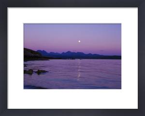 Moonrise Over The Cuillins - Skye by Richard Osbourne