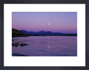 Moonrise Over The Cuillins - Skye by Richard Osbourne