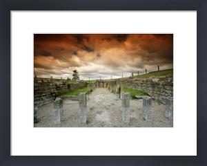 Roman Temple - Hadrian's Wall by Richard Osbourne